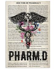 Pharmacist doctor of pharmacy 11x17 Poster front