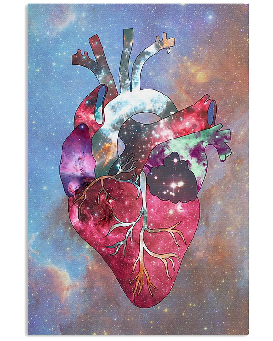 Galaxy Anatomical Heart Cardiologist 11x17 Poster