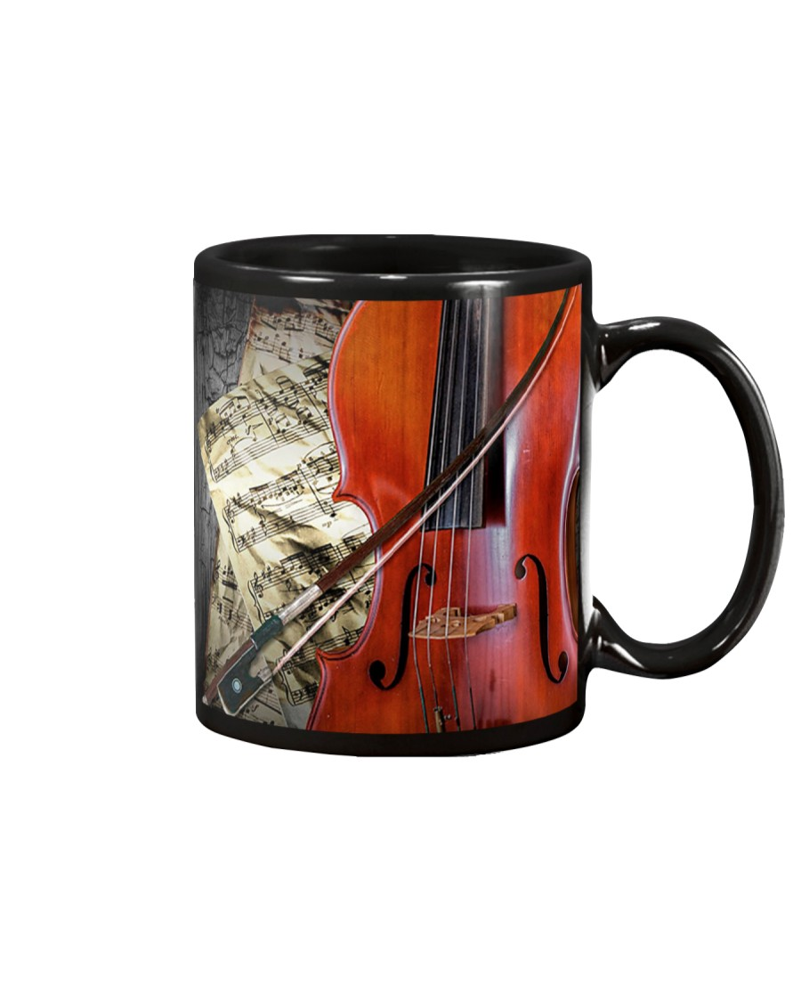 Cello Beside Music Sheet Mug