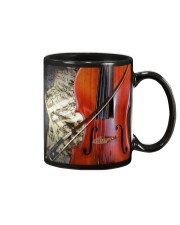 Cello Beside Music Sheet Mug front