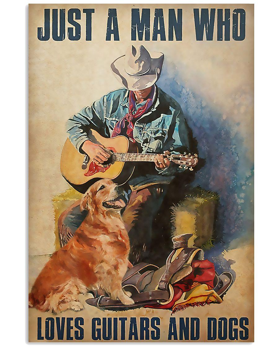 Man Loves Guitar 11x17 Poster