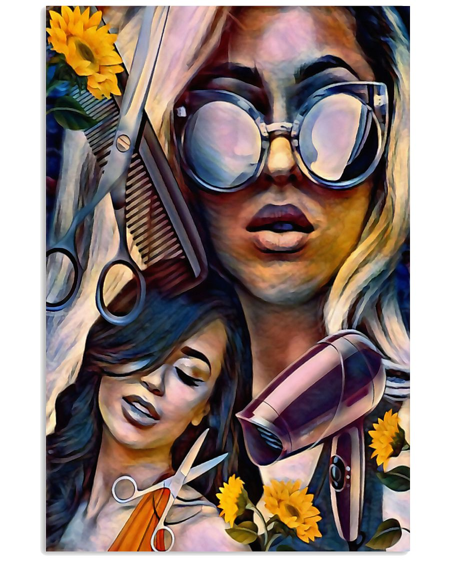 Hairdresser Art Girls 11x17 Poster