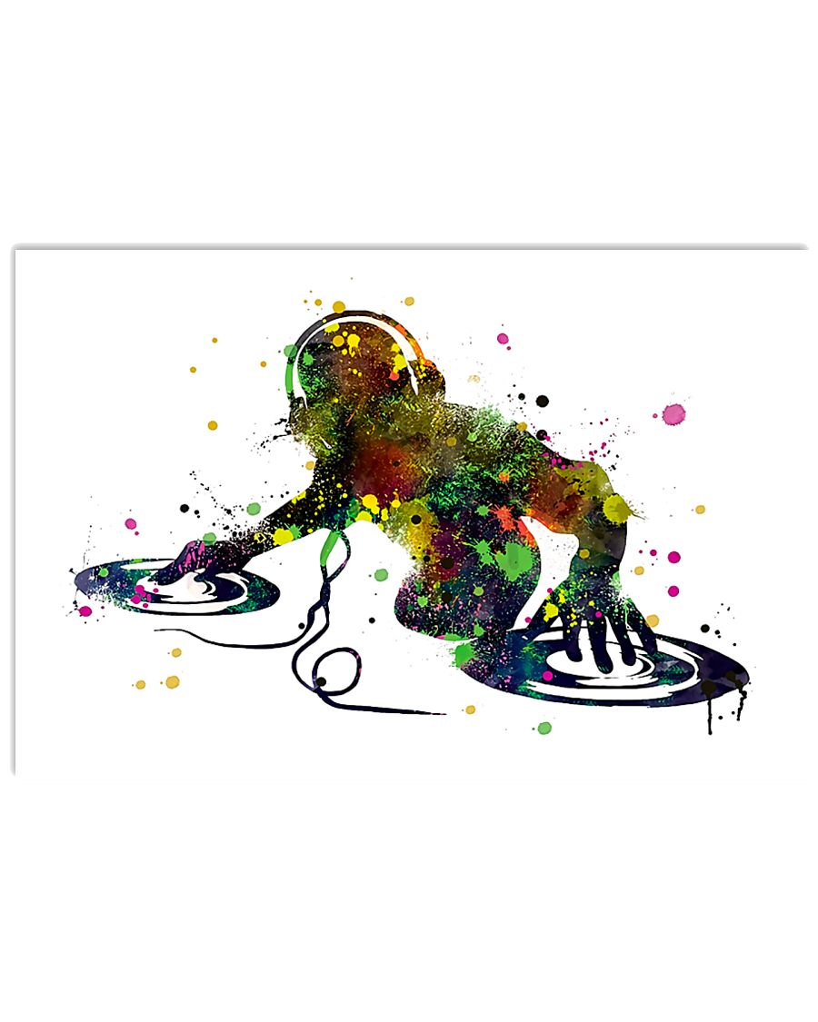 Colorful DJ 17x11 Poster