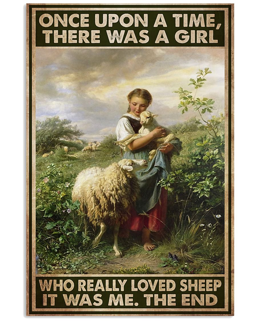 Farmer A Girl Who Really Loved Sheep  11x17 Poster