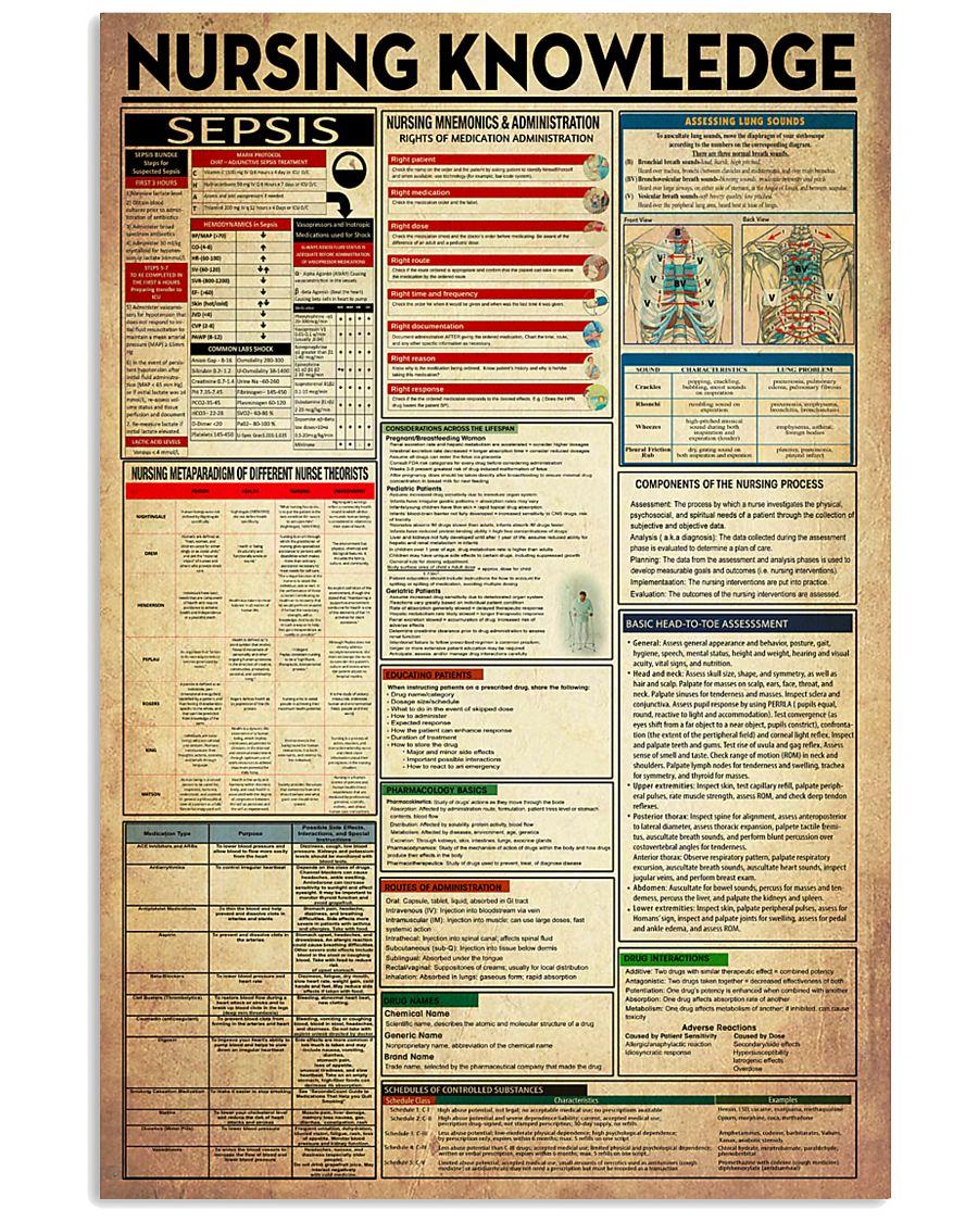 Nurse Nursing Knowledge 11x17 Poster
