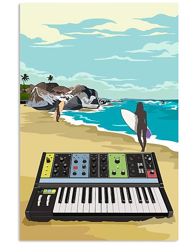 Synthesizer At Beach Art Print