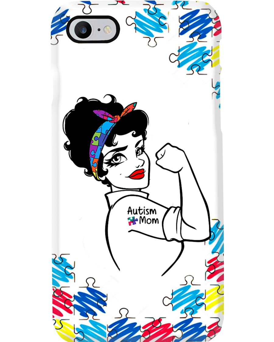 Autism Awareness Strong Autism Mom Phone Case