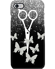 Hairdresser Sparkle Scissor And Butterfly  Phone Case i-phone-7-case