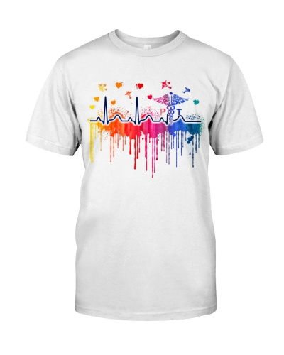 Physical Therapist Colorful Heartbeat