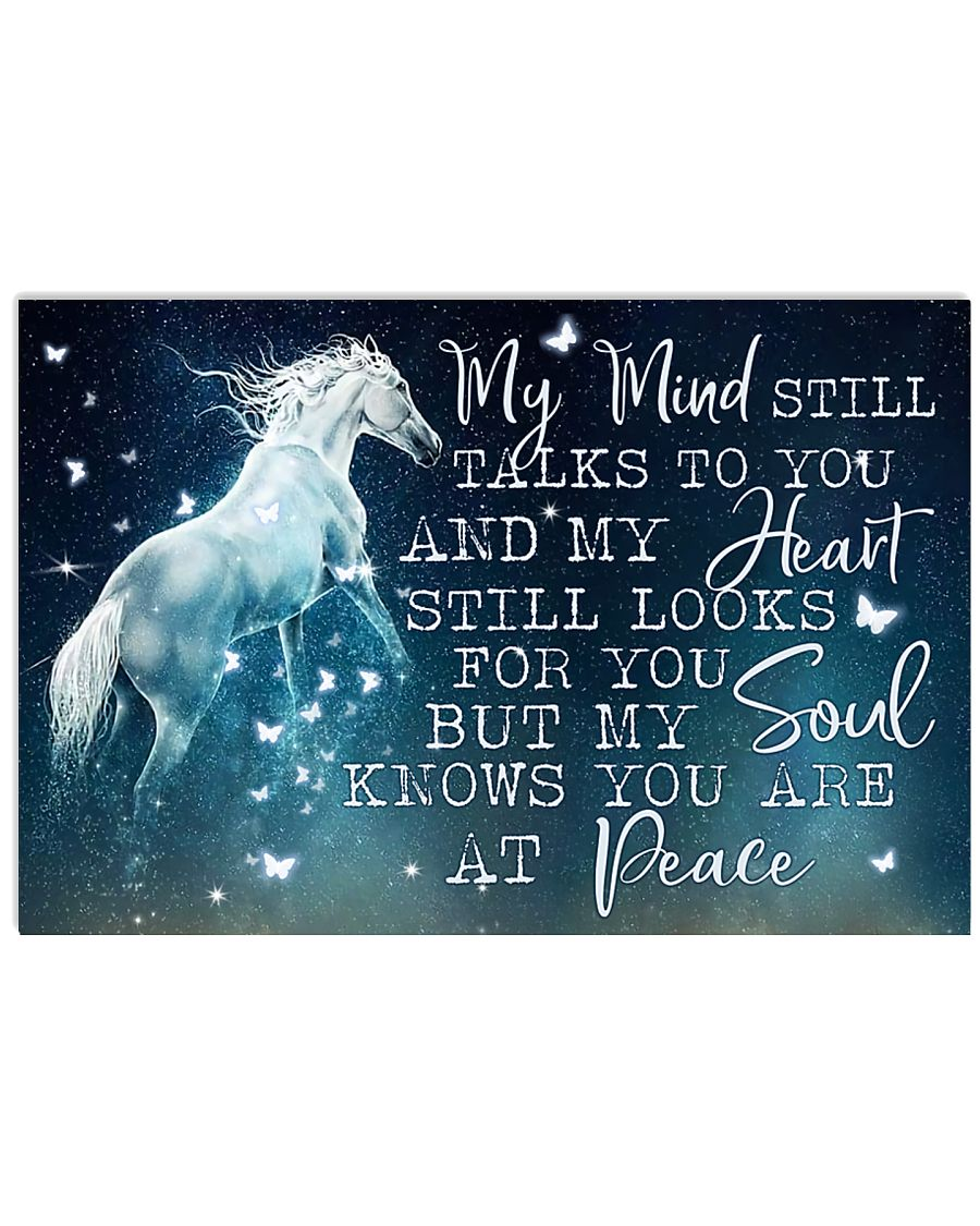 Horse Girl - My soul knows you are at peace 17x11 Poster