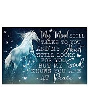 Horse Girl - My soul knows you are at peace 17x11 Poster front