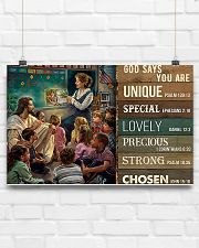 Teacher God Says You Are 17x11 Poster poster-landscape-17x11-lifestyle-17
