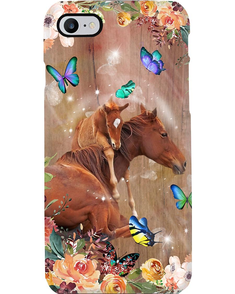 Horse Girl Flower Phone Case