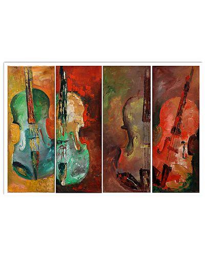 Violins Colorful Painting Art