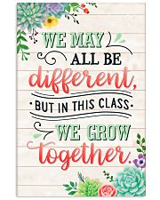 Teacher In This Class We Grow Together 11x17 Poster front