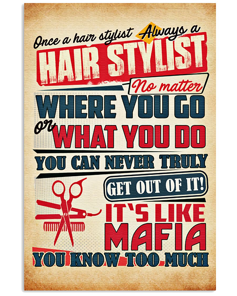 Hairdresser It's Like Mafia 11x17 Poster