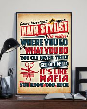 Hairdresser It's Like Mafia 11x17 Poster lifestyle-poster-2