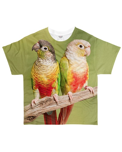 Parrot Couple Allover Tshirt