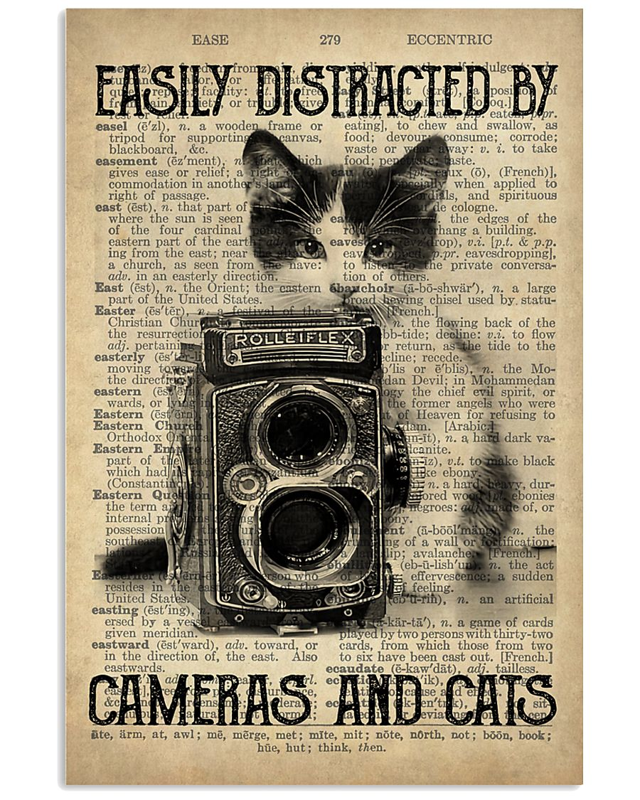 Easily Distracted By Cats And Camera Photographer 11x17 Poster