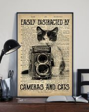 Easily Distracted By Cats And Camera Photographer 11x17 Poster lifestyle-poster-2