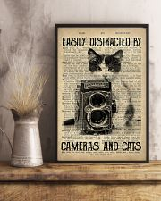 Easily Distracted By Cats And Camera Photographer 11x17 Poster lifestyle-poster-3