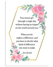 Social Worker What You Do Makes A Difference 11x17 Poster front