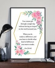 Social Worker What You Do Makes A Difference 11x17 Poster lifestyle-poster-2
