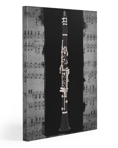 Clarinet On Black Background