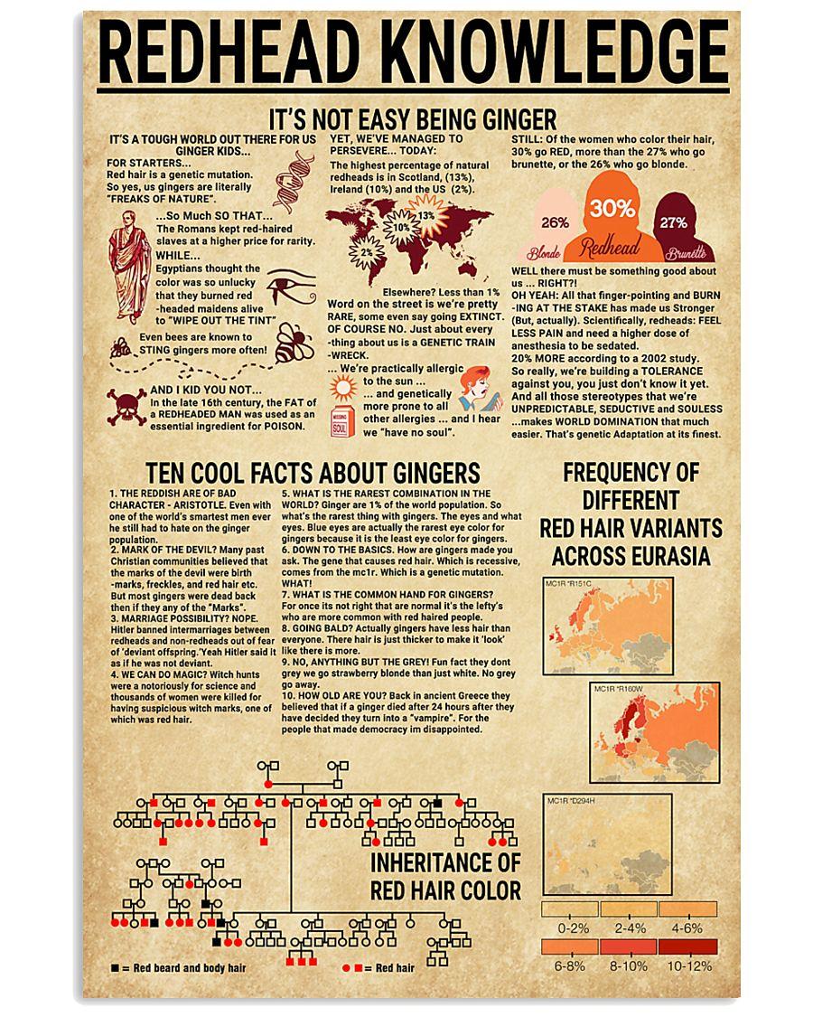 Redhead Knowledge 11x17 Poster