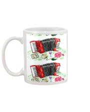 Red Accordion Flower Mug back