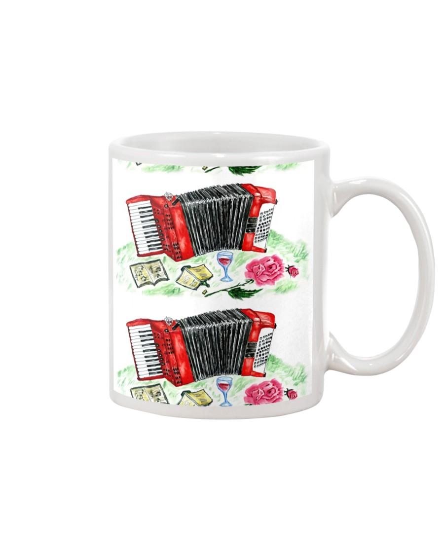 Red Accordion Flower Mug