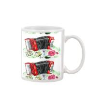 Red Accordion Flower Mug front