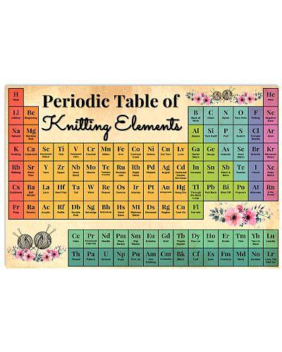 Periodic Table Of Knitting Elements