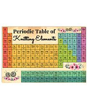 Periodic Table Of Knitting Elements 17x11 Poster front