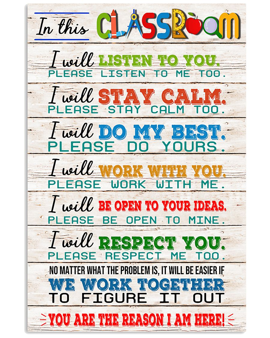 Teacher We Work Together 11x17 Poster