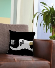 Black Bass Guitar Square Pillowcase aos-pillow-square-front-lifestyle-03