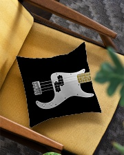 Black Bass Guitar Square Pillowcase aos-pillow-square-front-lifestyle-07