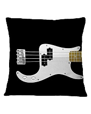 Black Bass Guitar Square Pillowcase front