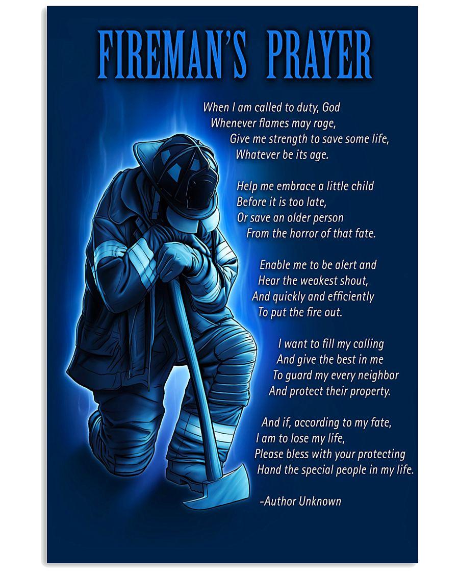 Firefighter's Prayer 11x17 Poster