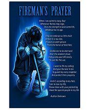 Firefighter's Prayer 11x17 Poster front