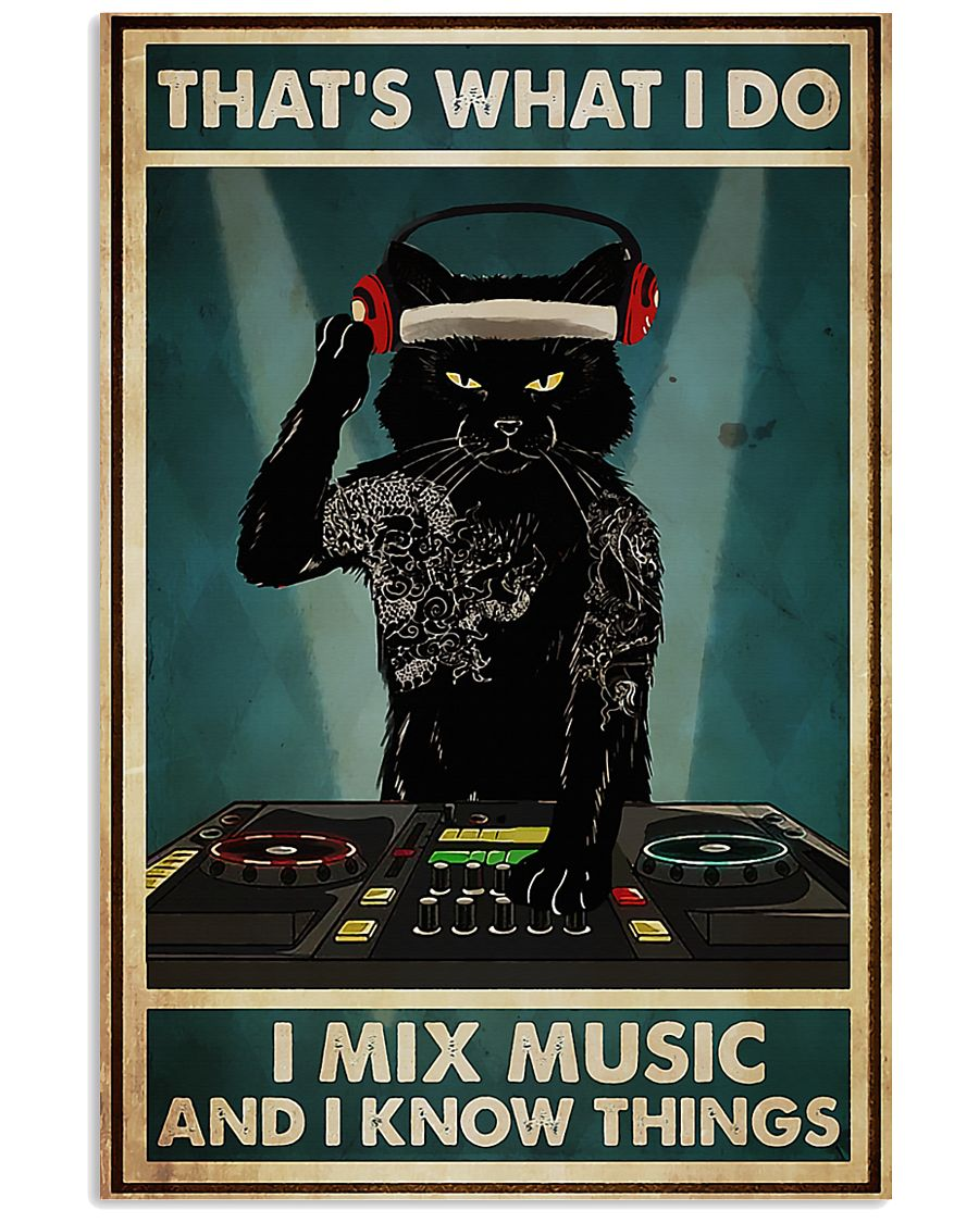 DJ - I Mix Music And I Know Things 11x17 Poster
