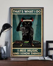 DJ - I Mix Music And I Know Things 11x17 Poster lifestyle-poster-2