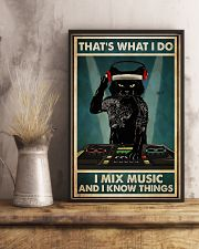 DJ - I Mix Music And I Know Things 11x17 Poster lifestyle-poster-3