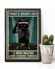 DJ - I Mix Music And I Know Things 11x17 Poster lifestyle-poster-8