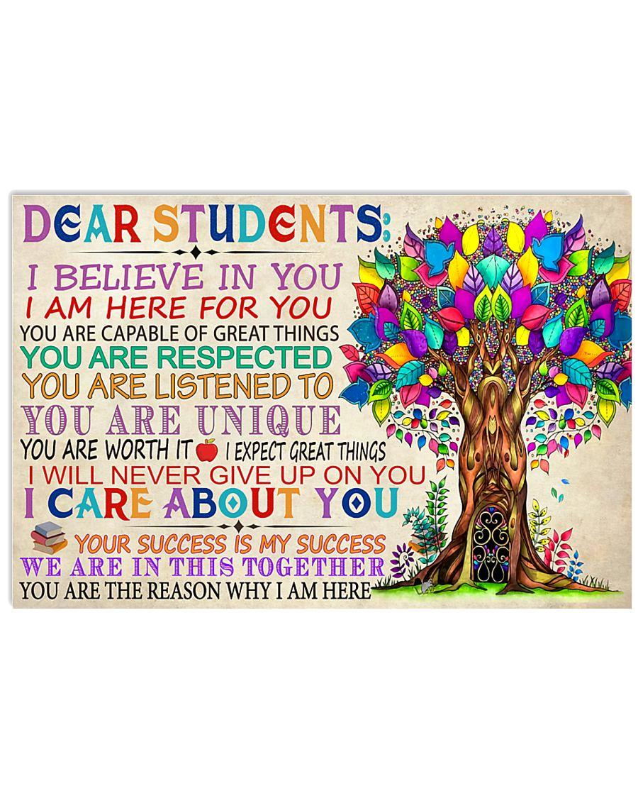Teacher Dear Students 17x11 Poster