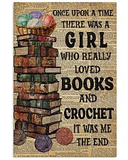 There Was A Girl Who Loved Books And Crochet 11x17 Poster front