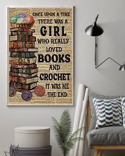 There Was A Girl Who Loved Books And Crochet 11x17 Poster lifestyle-poster-1