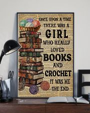 There Was A Girl Who Loved Books And Crochet 11x17 Poster lifestyle-poster-2