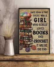There Was A Girl Who Loved Books And Crochet 11x17 Poster lifestyle-poster-3