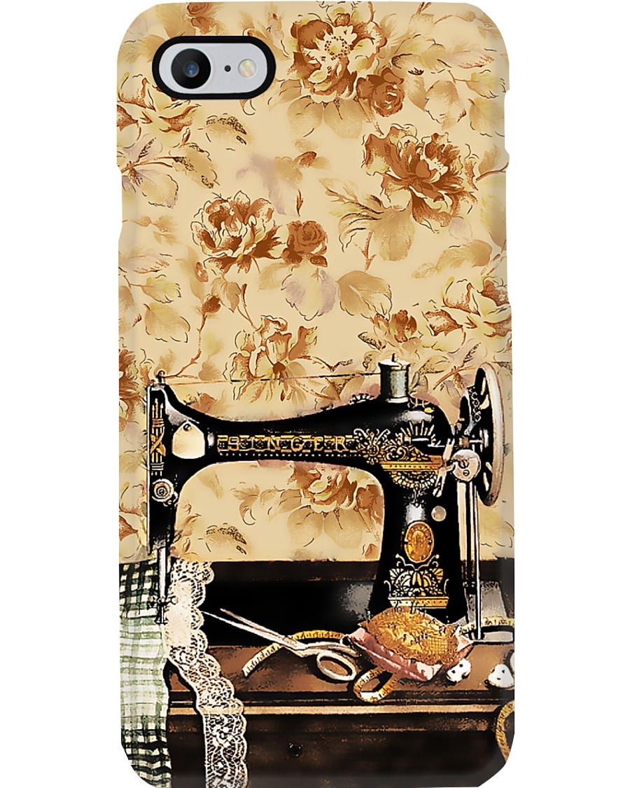 Vintage Daisy Sewing Machine Phone Case